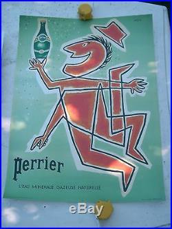 Affiche PERRIER par SAVIGNAC 1955 édition source Perrier 60x45