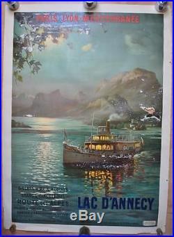 Affiche PLM Originale LAC D'ANNECY dans l'état
