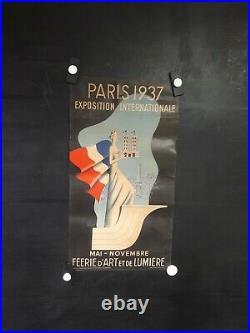 Affiche Paris 1937 Villemot Graphique