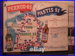 Affiche Pernod Tour De France 55