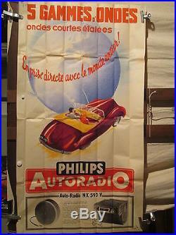 Affiche Philips Auto Radio Couple Voiture Sympa
