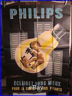 Affiche Philips Villemot Enfant Ombres Mignon