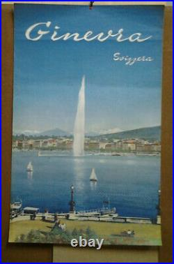 Affiche Photo Ancienne Geneve Ginevra Svizzera Suisse Suiza Switzerland Schweiz