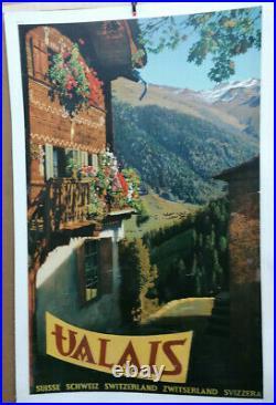 Affiche Photo Ancienne Valais Suisse Svizzera Suiza Switzerland Schweiz