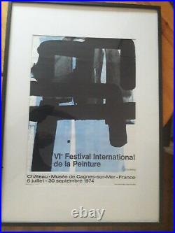Affiche Pierre Soulages. VI festival international de la peinture