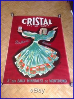 Affiche Poster Eau De Table Cristal Eau Montrond Spring Water Bellenger vintage