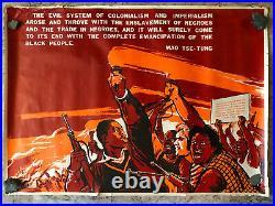 Affiche Poster Original Propagande Mao Afro-Américan Violent Repression 1968