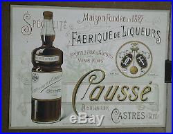 Affiche Pub Ancienne Eau De Noix Causse Castres Tarn Distillateur Liqueur