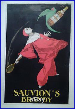 Affiche Pub Ancienne Sauvion' S Brandy Stall 1925