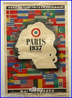 Affiche Pub Expo Internationale Paris 1937 Jean Carlu