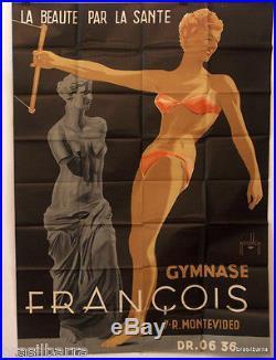 Affiche Pub La Beaute Par La Sante 1954