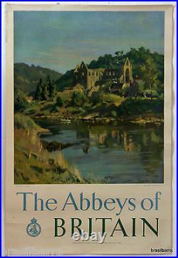 Affiche Pub The Abbeys Of Britain Tintern Abbey 1949