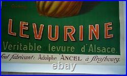 Affiche Publicitaire 1920 Levurine Ancel