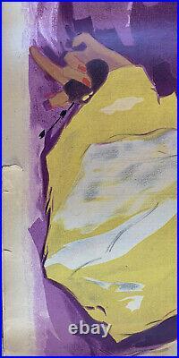 Affiche Publicitaire VIOLETA -Années 40 Lithographie Felix AGOSTINI -130x80