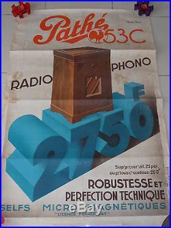 Affiche Radio Pathe 1934