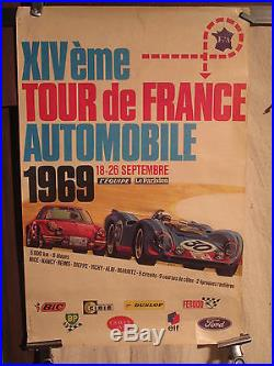 Affiche Rallye Tour De France Auto 1969