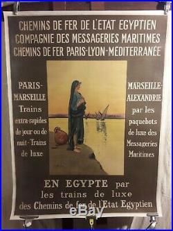 Affiche Rare Egypte Messageries Maritimes
