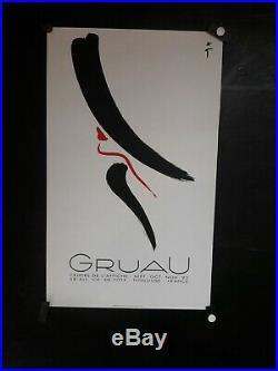 Affiche Rene Gruau Toulouse Femme De Profil Deco Graphique