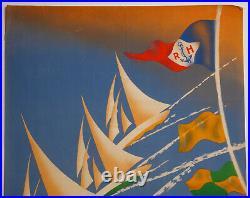 Affiche Rene Mery Regates Du Havre Port Autonome Du Havre Grand Prix Frank Z218