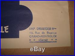 Affiche Ricard Draeger Se Taire C Est Servir 1940 Gouvernement Vichy Petain
