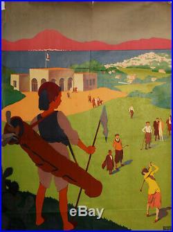 Affiche Roger Broders Golf De La Soukra Tunis Plm Vaugirard Tunisie 1932 Z217