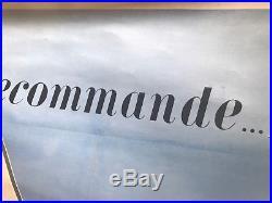 Affiche SIMCA 9 recommande SHELL X 100 entoilée 126 x 91 cm Fix Masseau Pierre