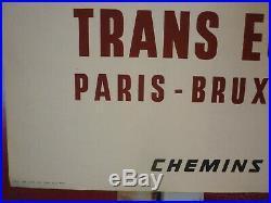 Affiche SNCF TEE par Brenet 1965 originale
