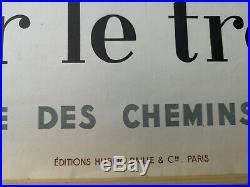 Affiche SNCF originale Baille Hervé 1954 région Côte d'Azur 62 x 100 cms