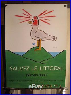 Affiche Savignac Mouette Phare