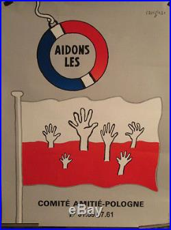 Affiche Savignac Pour La Pologne