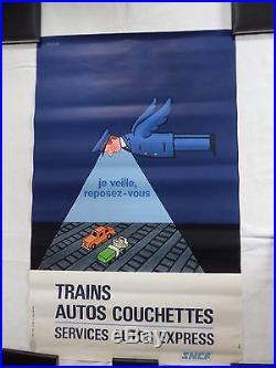 Affiche Savignac SNCF 1972