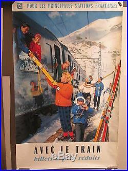 Affiche Sncf Trainskieurs Photo Couleurs Sympa