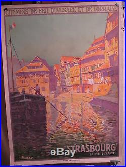 Affiche Strasbourg Petite France Canal Couleurs Lucien Blumer