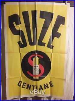 Affiche Suze Gentiane Bouteille Litho 1940 Env