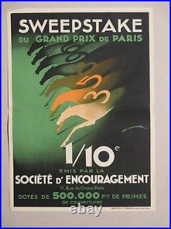 Affiche Sweepstake Chevaux Maurus Deco Graphique