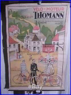 Affiche Thomann Velomoteurs Scene Animee