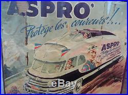 Affiche Tour de France Aspro Autocar Géo Ham Pharmacie Cyclisme aspirine