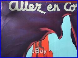 Affiche Tourisme ALLEZ EN CORSE Edouard Collin PAQUEBOT Transtlantique 40x59'50