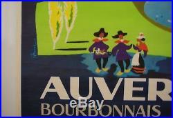 Affiche Tourisme AUVERGNE BOURBONNAIS VELAY signée RAVEL