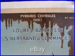 Affiche Touristique Barbazan Entoilee P. Seignouret Loures Barousse St Bertrand