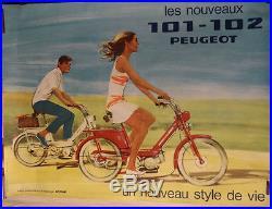 Affiche VELOMOTEUR PEUGEOT