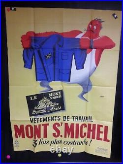Affiche Vetements Travail Mt St Michel Marrante 1960