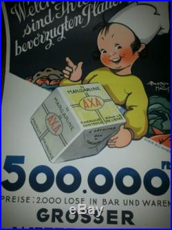 Affiche allemande pour AXA. Par Béatrice Mallet. Circa 1930