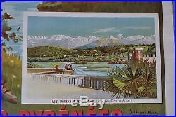 Affiche ancienne 1900 Les Pyrénées Le cirque de Gavarnie