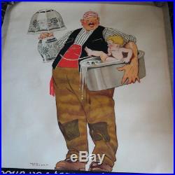 Affiche ancienne 1925 TRANSPORT COTTY 160x120cm