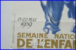 Affiche ancienne 1939 Semaine Nationale de l'Enfance CAPPIELLO art poster