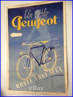 Affiche ancienne 1942 Peugeot originale