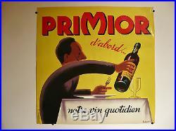 Affiche ancienne 1950 Primior d'abord ill. Bellenger