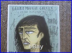Affiche ancienne 1980 BERNARD BUFFET Lithographie MOURLOT galerie M. GARNIER