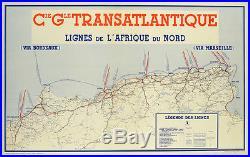Affiche ancienne CGT Afrique du Nord -1950